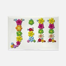 Jill Bright Flowers Rectangle Magnet