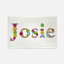 Josie Bright Flowers Rectangle Magnet