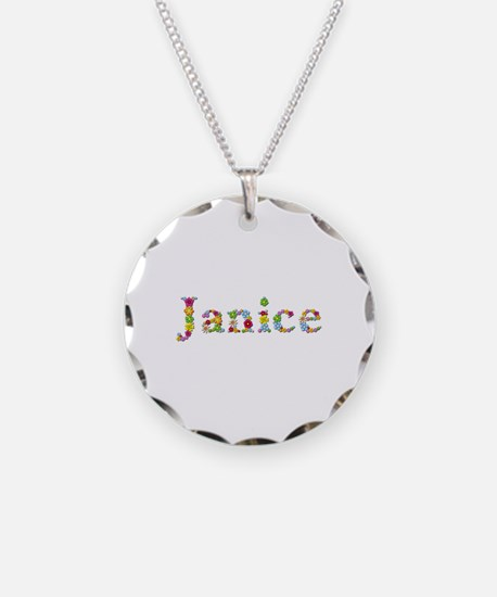 Janice Bright Flowers Necklace