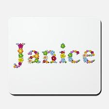 Janice Bright Flowers Mousepad