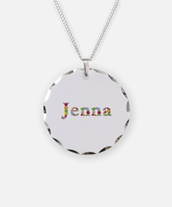 Jenna Bright Flowers Necklace