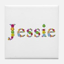 Jessie Bright Flowers Tile Coaster