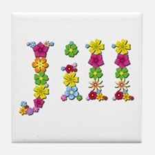 Jill Bright Flowers Tile Coaster