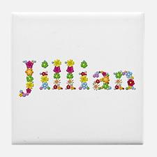 Jillian Bright Flowers Tile Coaster