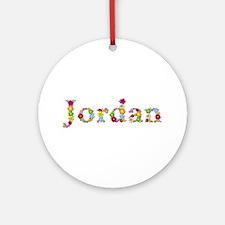 Jordan Bright Flowers Round Ornament