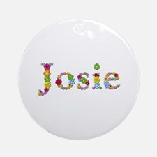 Josie Bright Flowers Round Ornament