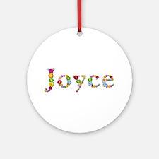 Joyce Bright Flowers Round Ornament