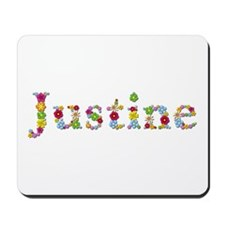 Justine Bright Flowers Mousepad