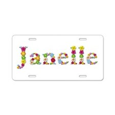 Janelle Bright Flowers Aluminum License Plate