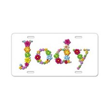 Jody Bright Flowers Aluminum License Plate