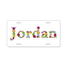 Jordan Bright Flowers Aluminum License Plate