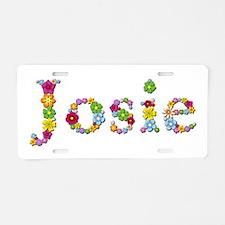 Josie Bright Flowers Aluminum License Plate