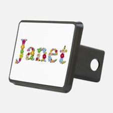 Janet Bright Flowers Hitch Cover