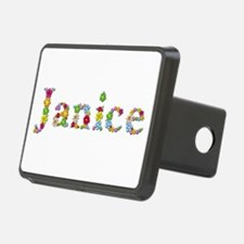Janice Bright Flowers Hitch Cover