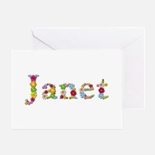 Janet Bright Flowers Greeting Card
