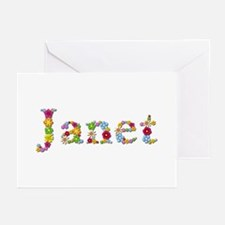 Janet Bright Flowers Greeting Card 20 Pack