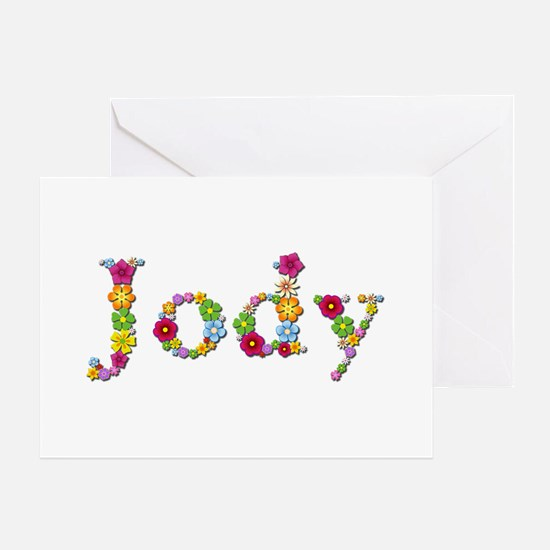 Jody Bright Flowers Greeting Card