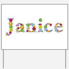 Janice Bright Flowers Yard Sign