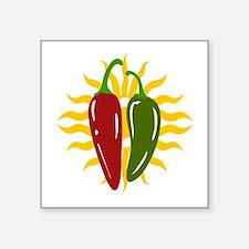 """CHILE LOVE Square Sticker 3"""" x 3"""""""