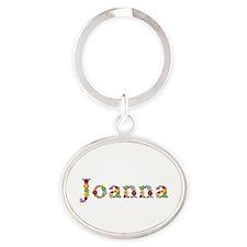 Joanna Bright Flowers Oval Keychain