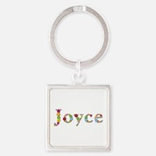 Joyce Bright Flowers Square Keychain