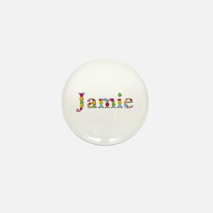 Jamie Bright Flowers Mini Button