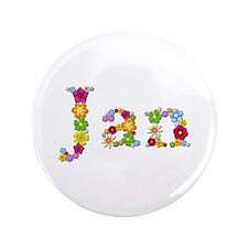 Jan Bright Flowers Big Button