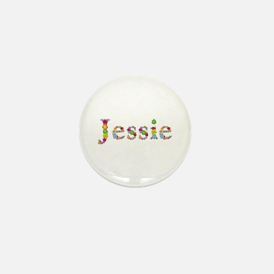 Jessie Bright Flowers Mini Button