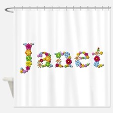 Janet Bright Flowers Shower Curtain