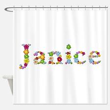 Janice Bright Flowers Shower Curtain