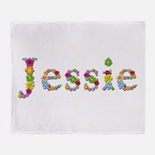Jessie Bright Flowers Throw Blanket