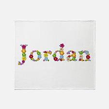 Jordan Bright Flowers Throw Blanket