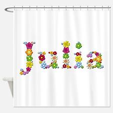 Julia Bright Flowers Shower Curtain