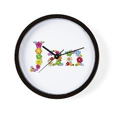 Jan Bright Flowers Wall Clock