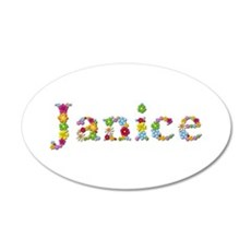 Janice Bright Flowers 35x21 Oval Wall Decal