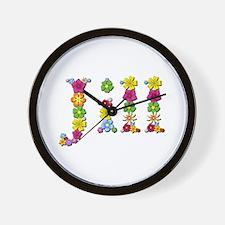Jill Bright Flowers Wall Clock