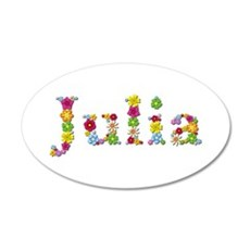 Julia Bright Flowers Wall Decal
