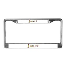 Janet Bright Flowers License Plate Frame