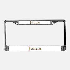 Jenna Bright Flowers License Plate Frame