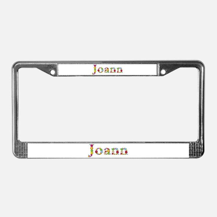 joann bright flowers license plate frame