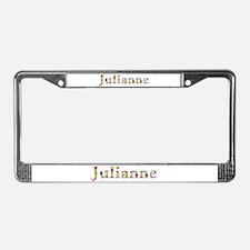 Julianne Bright Flowers License Plate Frame