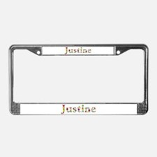 Justine Bright Flowers License Plate Frame