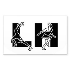 Lindy Hop - Dancers Decal