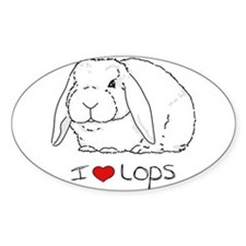 I Love Lops 2 Rectangle Bumper Stickers