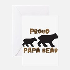 Proud Papa Bear Greeting Cards