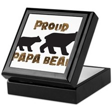 Proud Papa Bear Keepsake Box