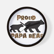 Proud Papa Bear Wall Clock