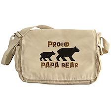 Proud Papa Bear Messenger Bag