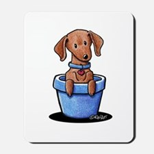 KiniArt Potted Doxie Mousepad