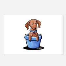 KiniArt Potted Doxie Postcards (Package of 8)